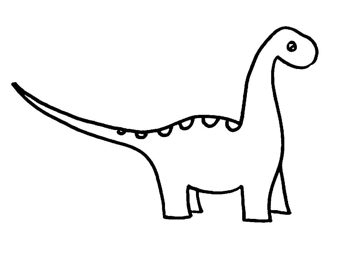 dinosaur clipart outline clipart
