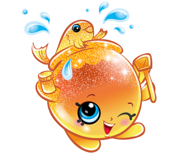 Goldie fishbowl art official shopkins clipart free image