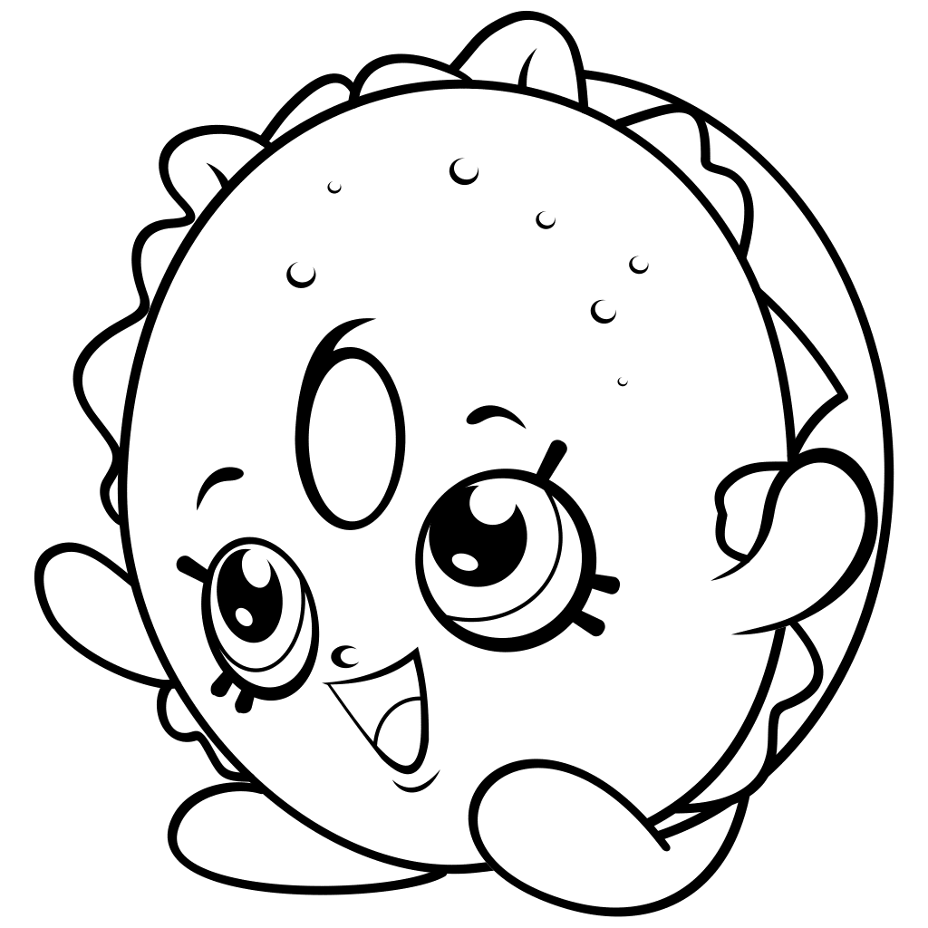 shopkins black and white clipart image