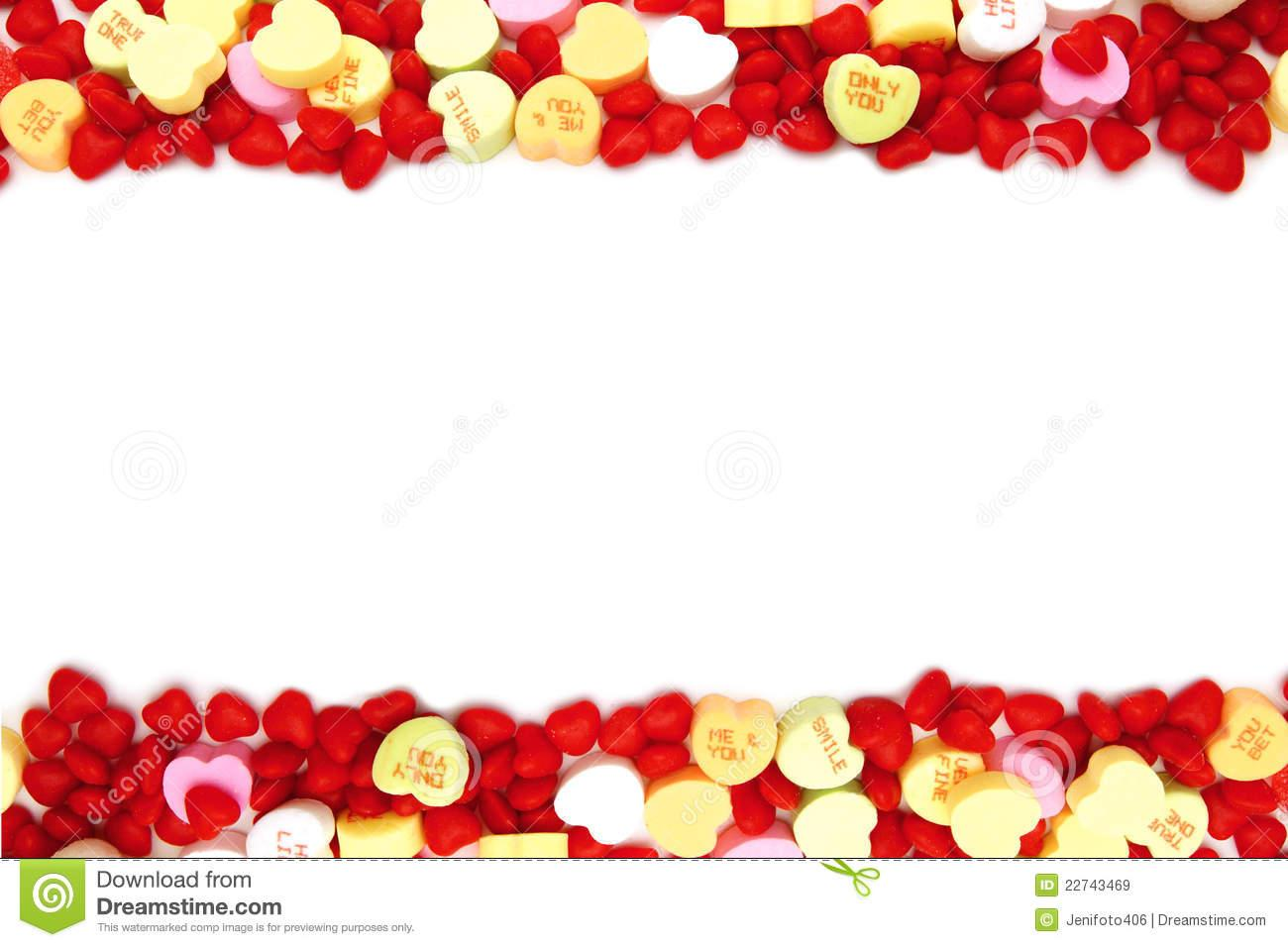 valentines day candy border royalty free stock images image NDpzEV clipart
