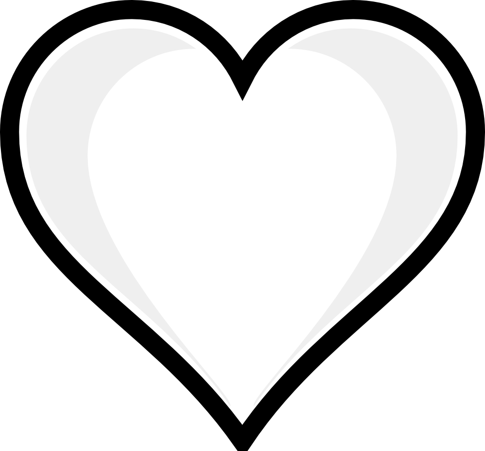 valentine hearts clip art black and white valentine week 6 rh clipart info black and white valentine heart clipart free black and white clipart heart outline