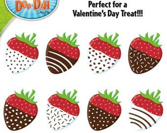 chocolate covered strawberries clip art perfect for valentine s day jpT7cm clipart