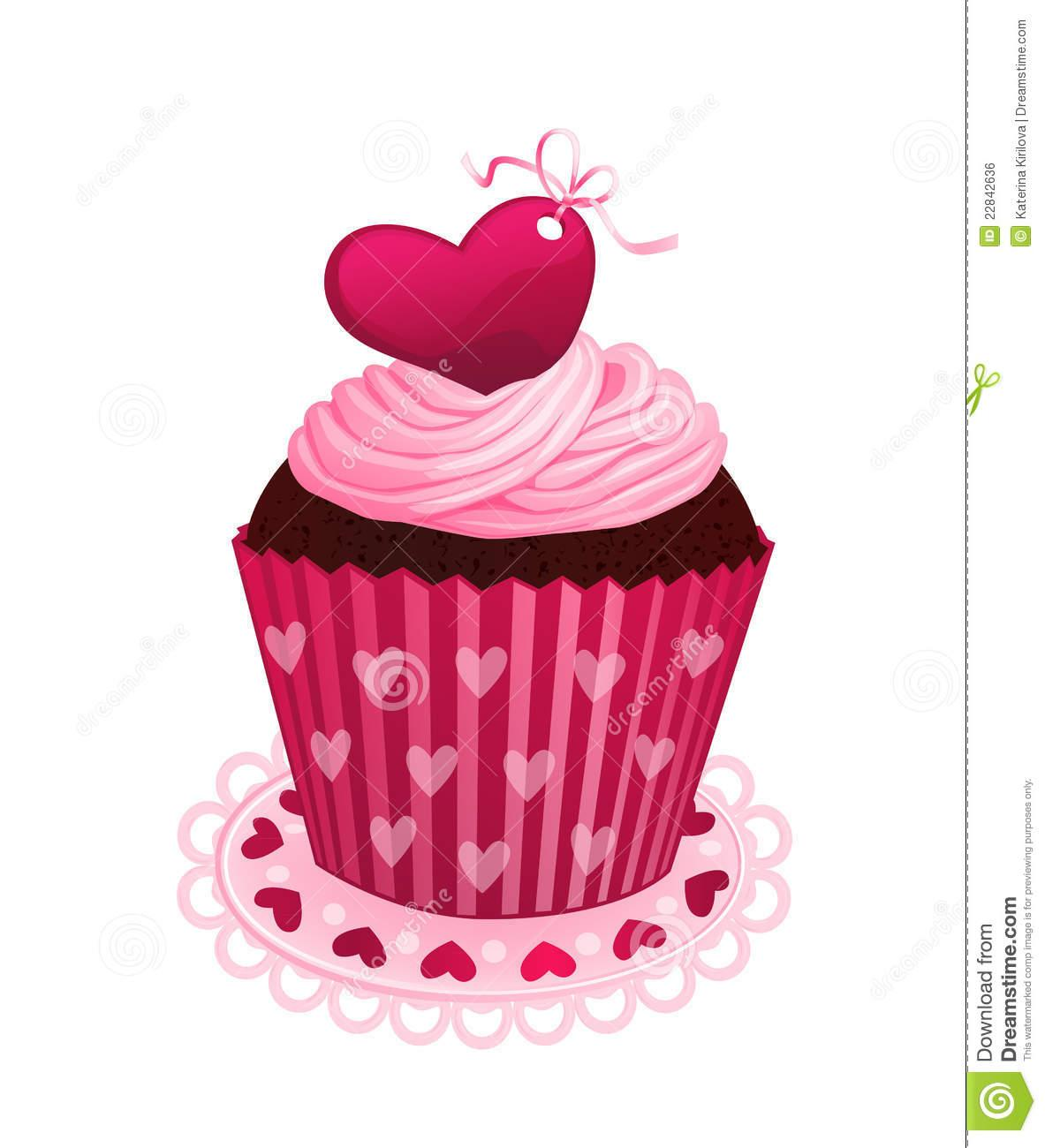 Valentine Day Cupcake Royalty Free Stock Image Image ... (1183 x 1300 Pixel)
