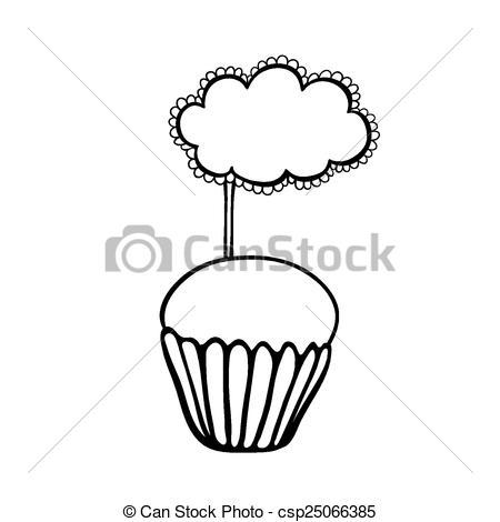 vector valentine s cupcake sketch stock illustration royalty free 99865Y clipart