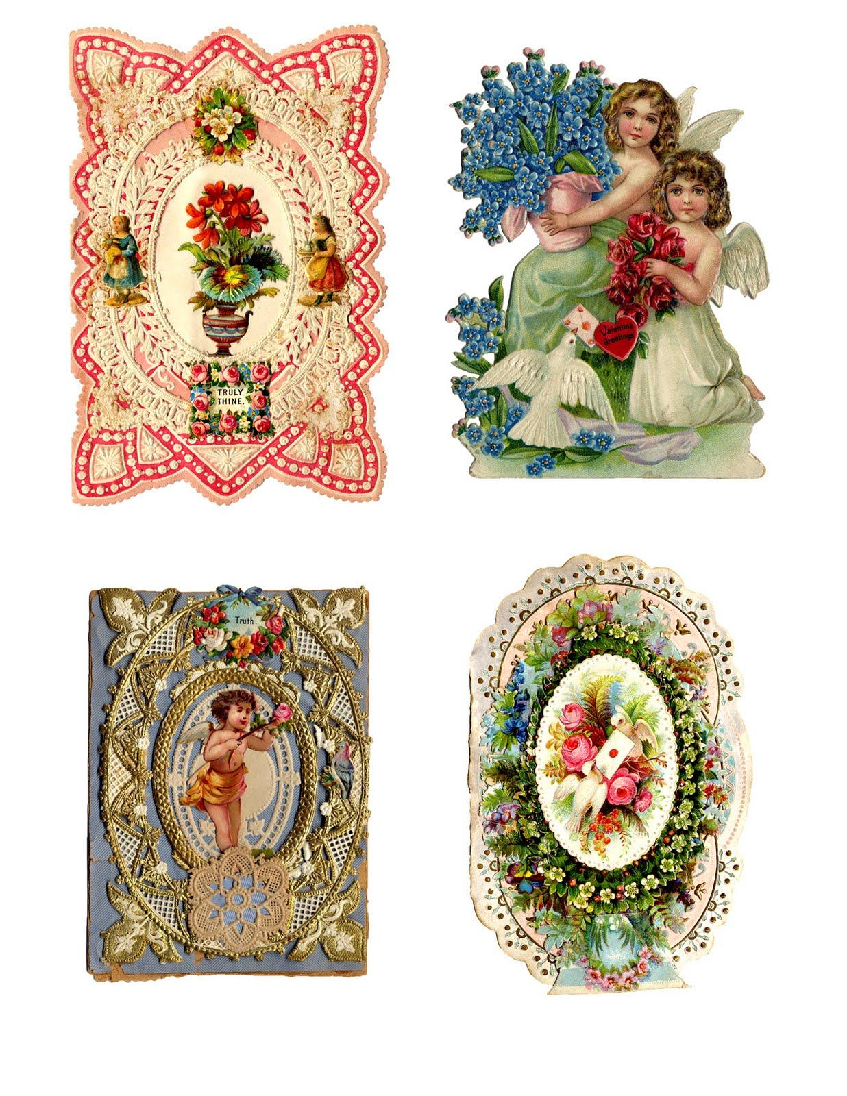 antique valentines printable collage sheet the graphics fairy ZXvKKR clipart