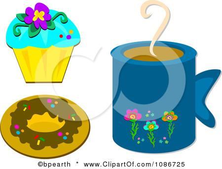 clipart red hot coffee mug and a valentine cupcake royalty free nTueYt clipart