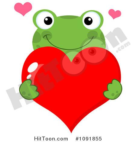 Frog Clipart 1091855 Green Frog Holding A Red Valentine