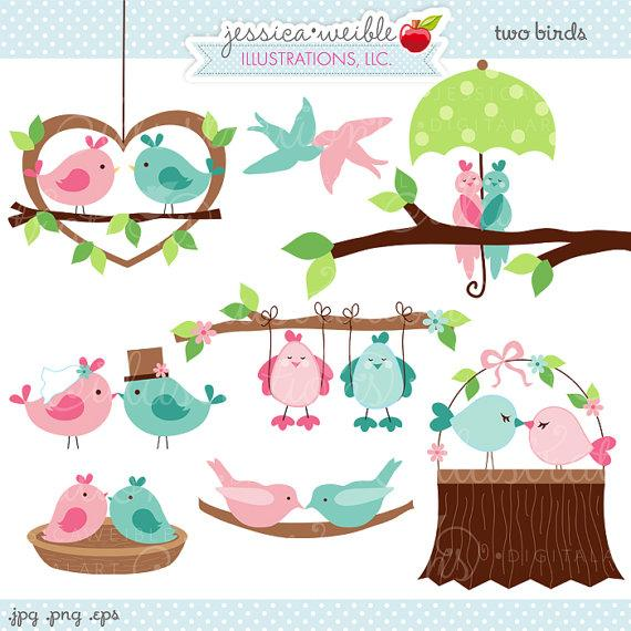 two birds cute valentine digital clipart commercial use ok love SHuqPQ clipart