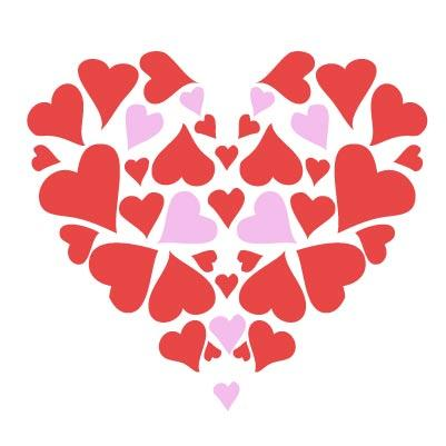 Hearts valentine cliparts
