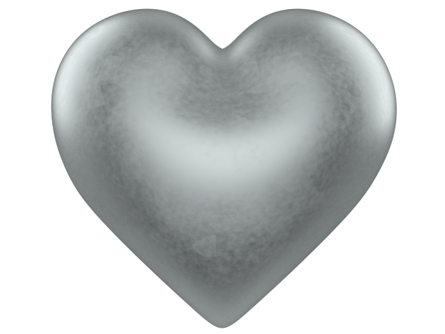 silver 3d love heart with transparent background valentine clip art CqoqL9 clipart