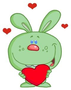 lover clipart a daydreaming hare in love holding a heart valentine for his lover 0521 1005 1210 4614 SMU