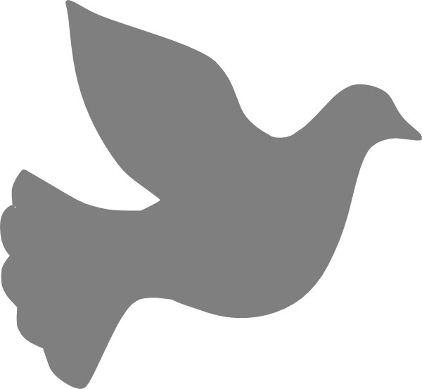 Grey love dove clip art at clker vector clip art