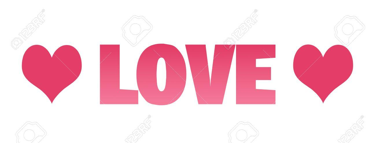 love clipart 5325155 Love clipart with hearts on a white background Stock Photo