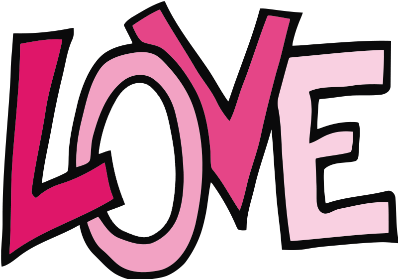 word clipart love text