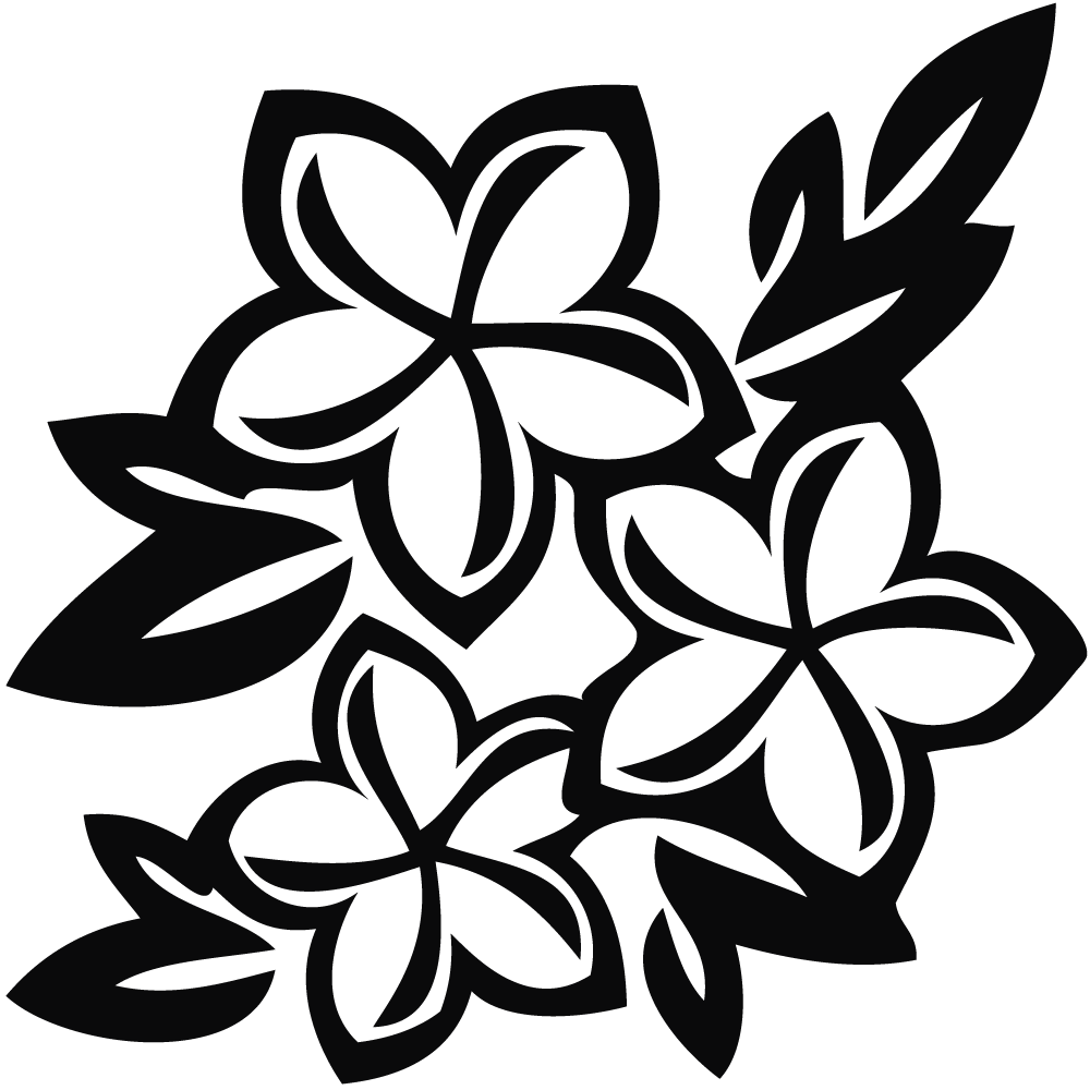 flowers clipart black and white hawaiian flowers rh clipart info flower vase black and white clipart black and white flower clip art borders