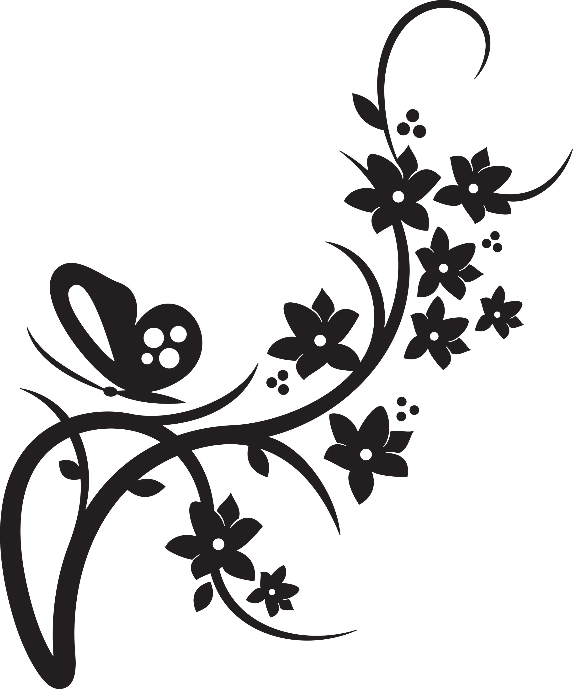 Flower border clipart black and white mightylinksfo