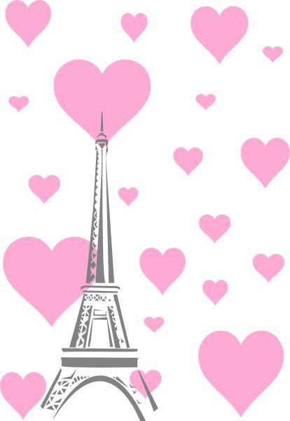 Eiffel Tower Heart Hearts Clip Art At Clker Com