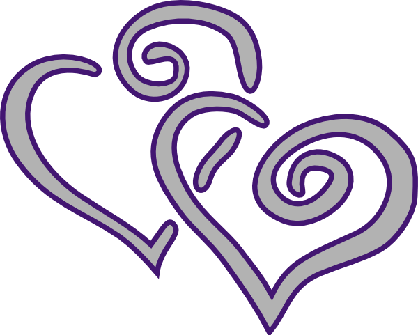 entwined hearts clipart http www clker com clipart purple silver X4sTTy clipart