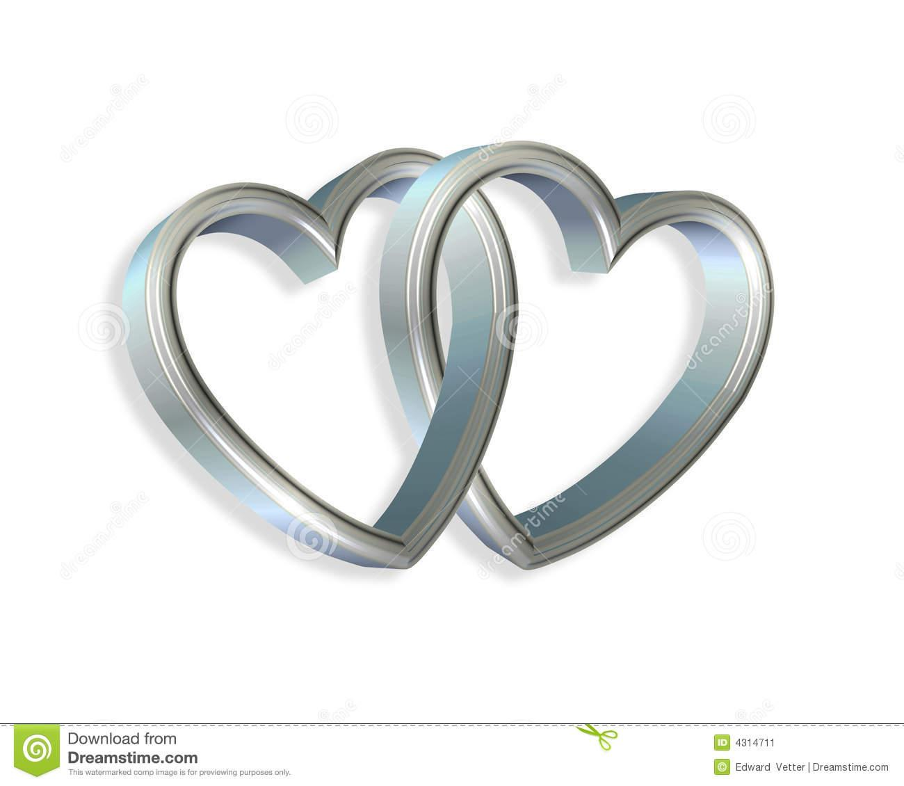 linked hearts clipart silver blue hearts linked 3d cfUUrz clipart