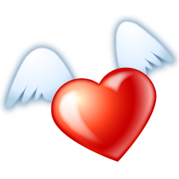 heart png with wings