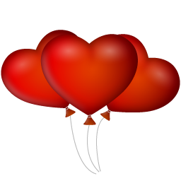 three hearts balloon png