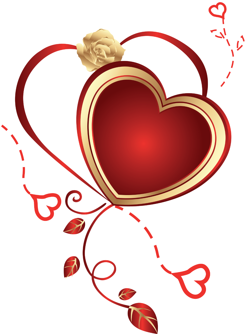 Heart with Rose png Clipart