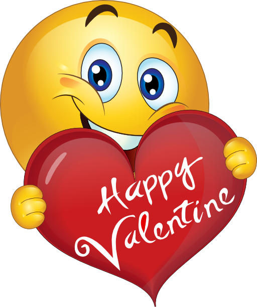 happy valentine boy smiley emoticon emoji clipart