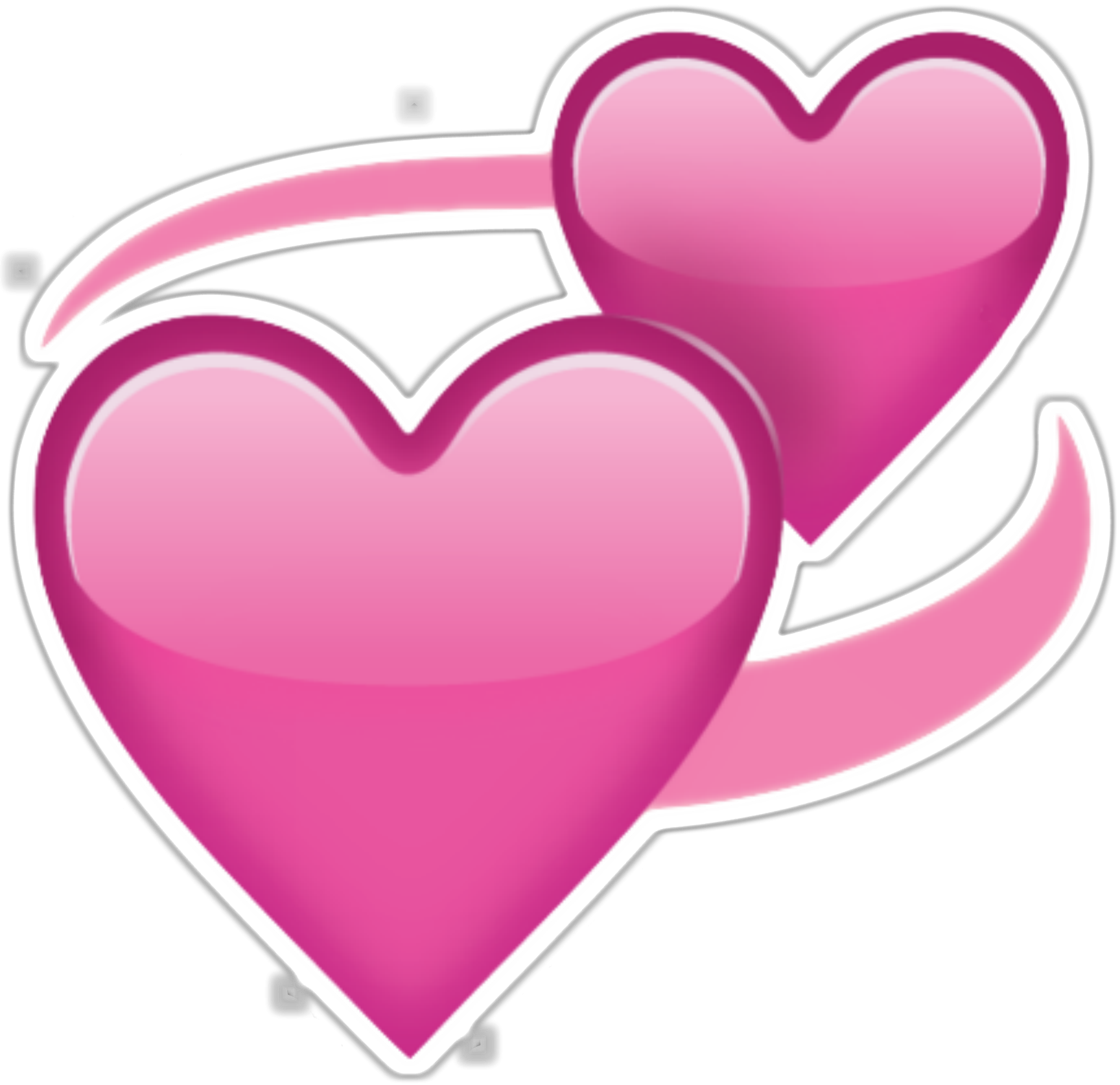 Two Pink Hearts Emoji Png Transparent