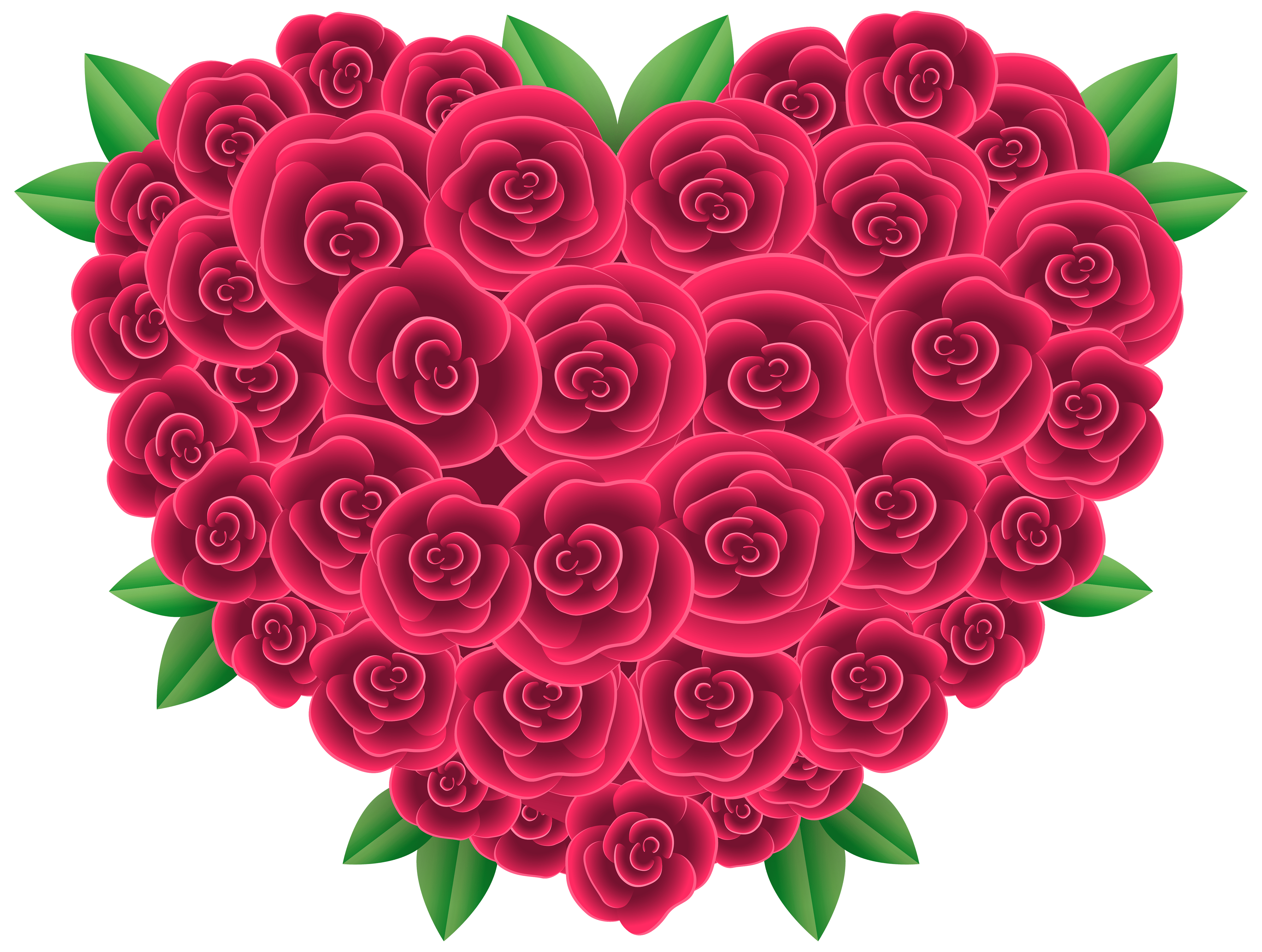 Floral Heart PNG clipart