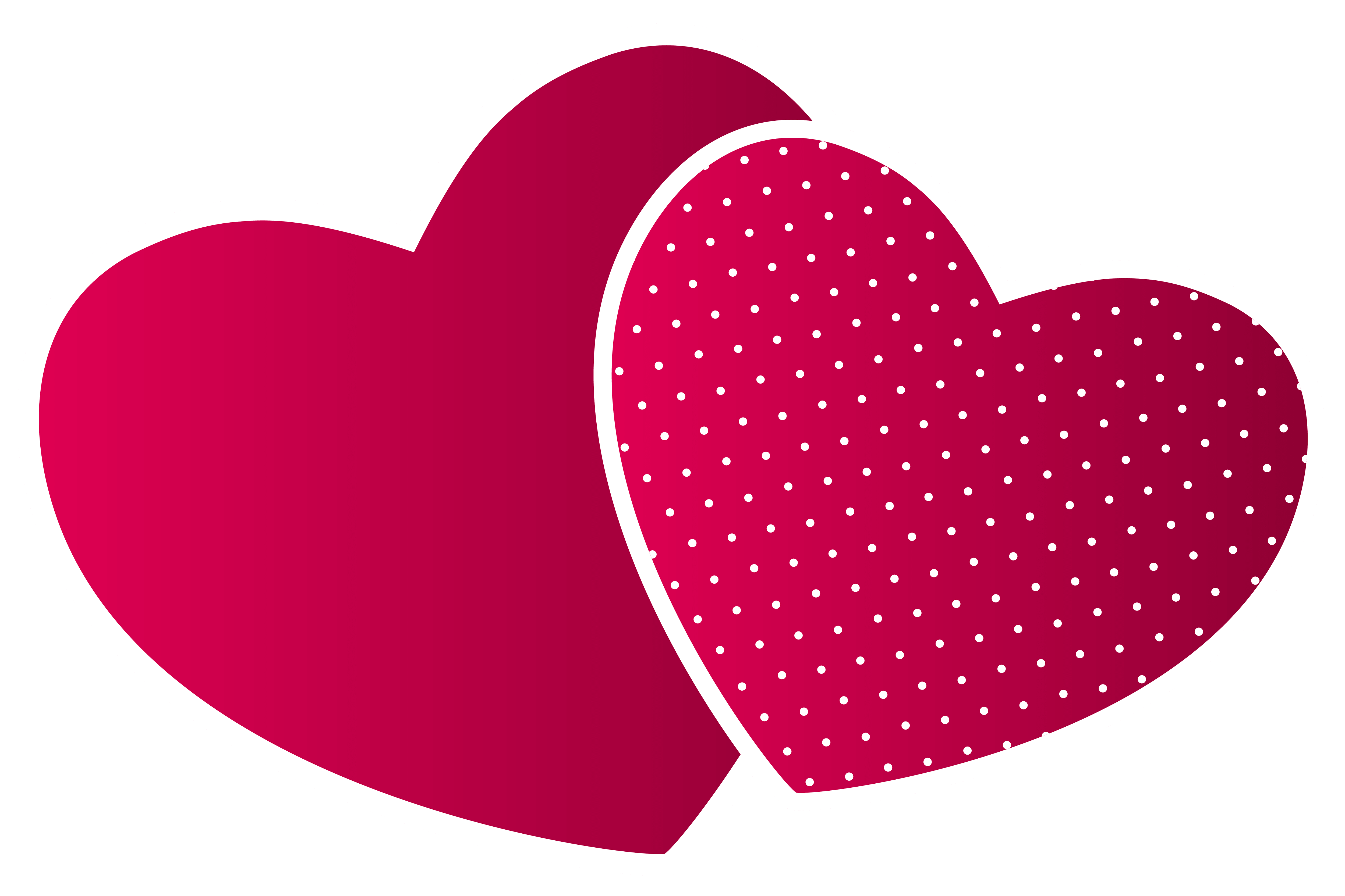 Double hearts PNG clipart