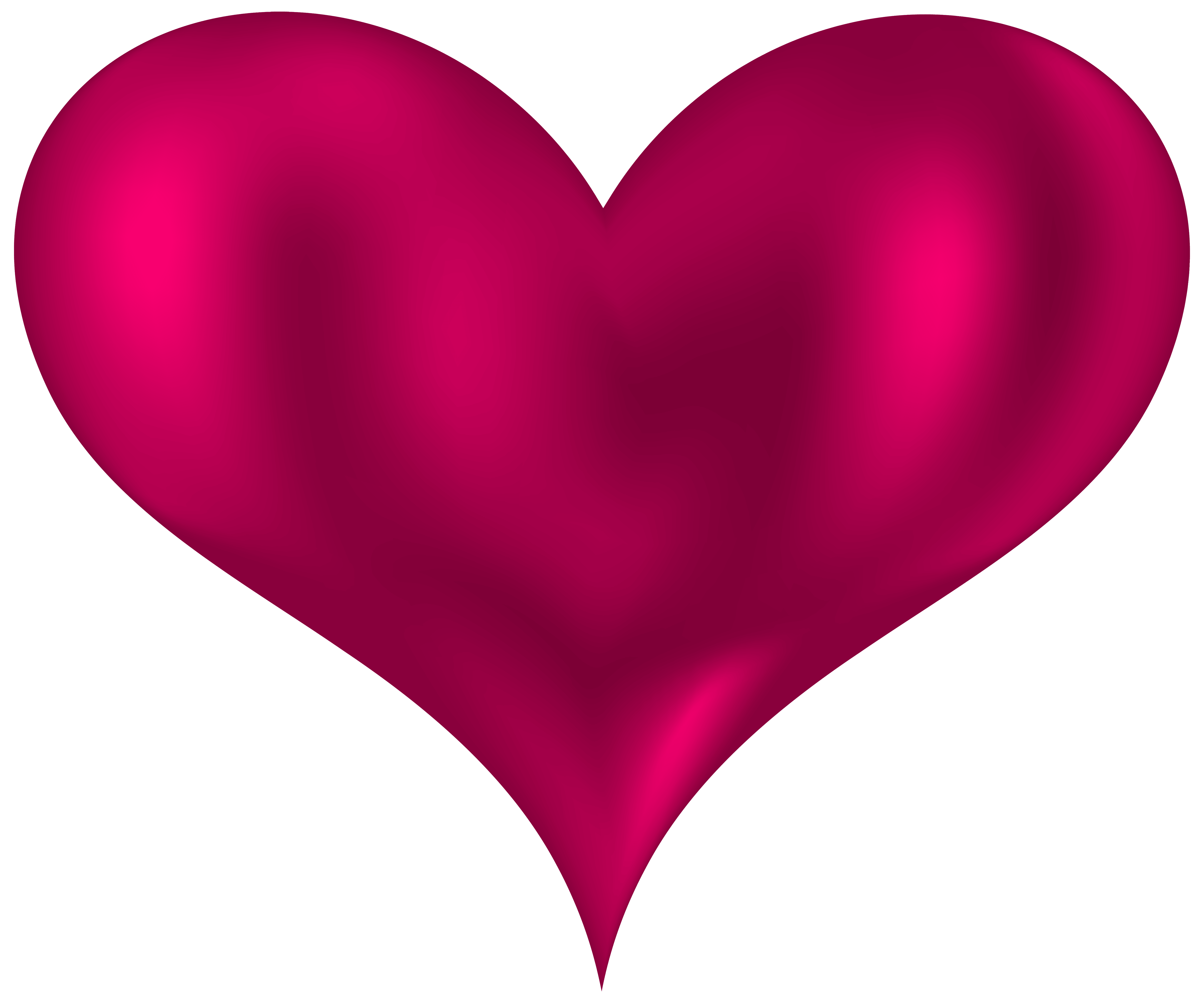 Beautiful Heart Pink PNG clipart