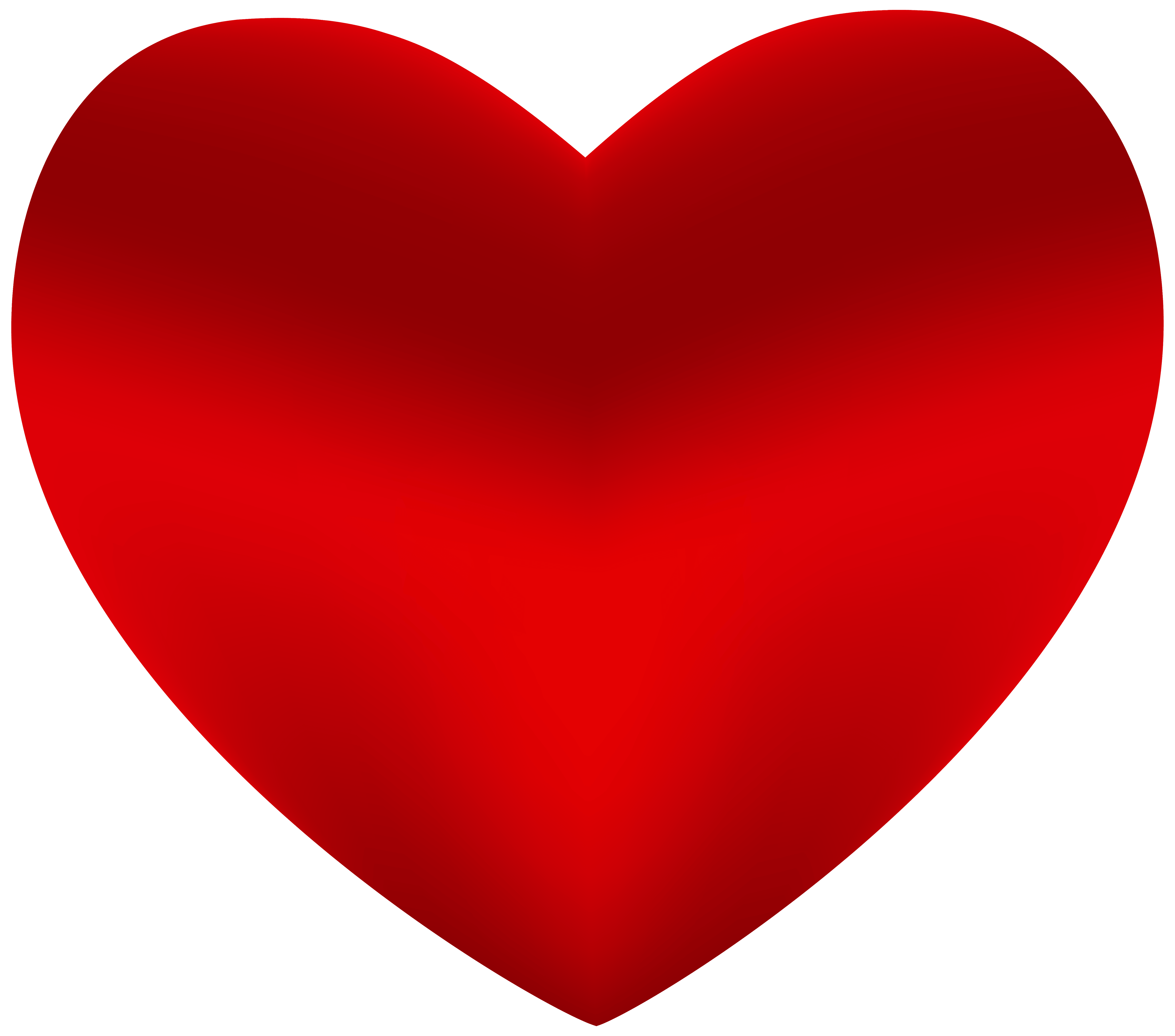 Beautiful Red Heart PNG clipart