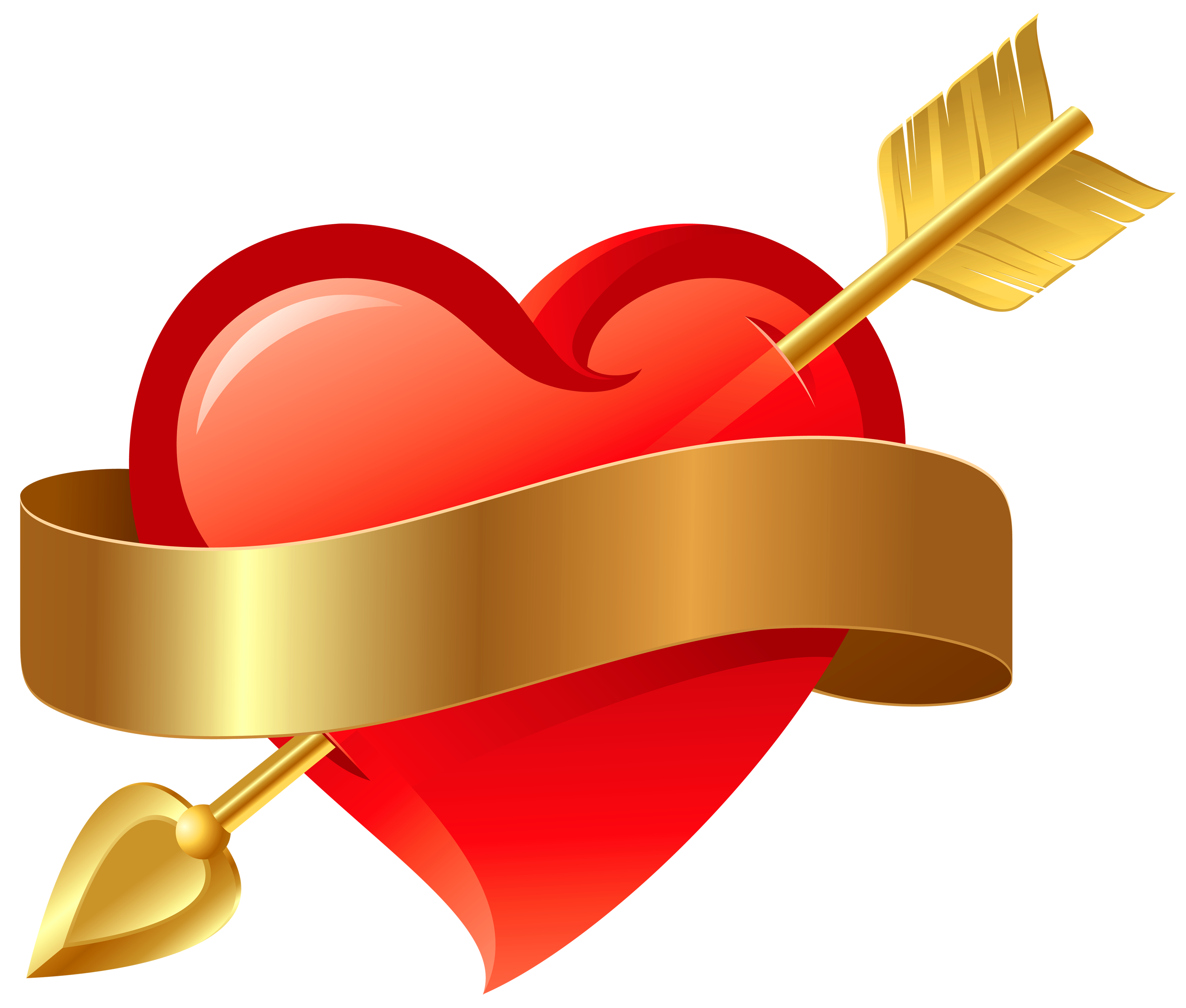 heart png with arrow transparent
