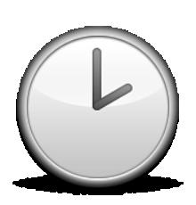 Ios Emoji Clock Face Two Oclock