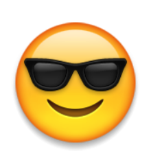 Ios Emoji Smiling Face With Sunglasses