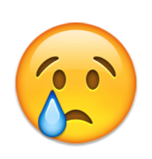 ios emoji crying face