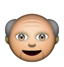 ios emoji older man