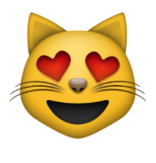 ios emoji smiling cat face with heart shaped eyes