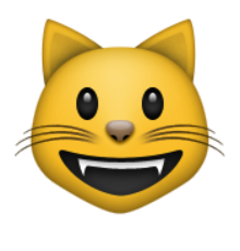 ios emoji smiling cat face with open mouth