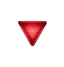 ios emoji down pointing red triangle