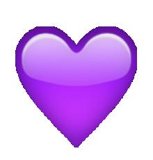 ios emoji purple heart