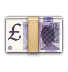 ios emoji banknote with pound sign