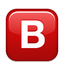 Ios Emoji Negative Squared Latin Capital Letter B