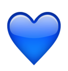 ios emoji blue heart. Black Bedroom Furniture Sets. Home Design Ideas