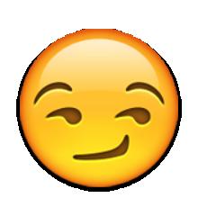Afbeeldingsresultaat voor smirking face emoji png