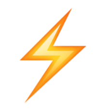 ios emoji high voltage sign