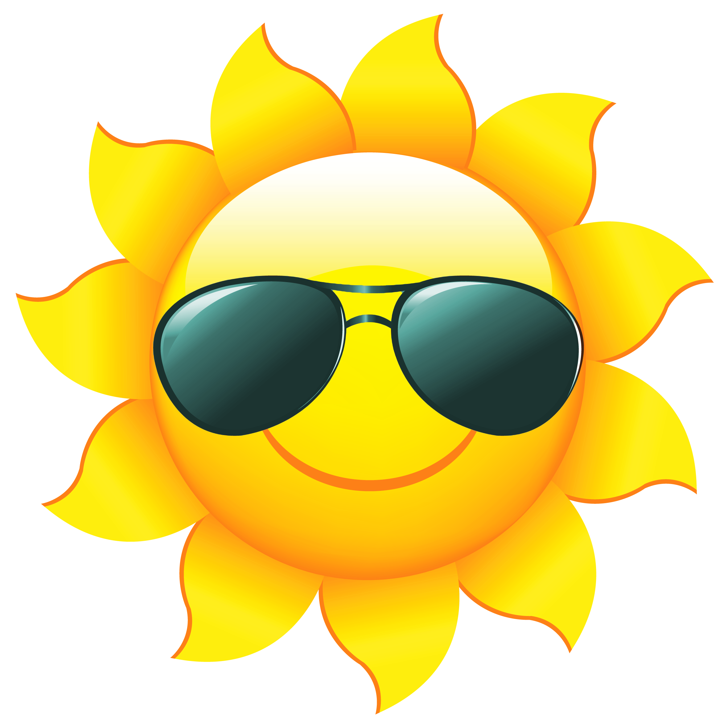 Image result for sun with sunglasses no background