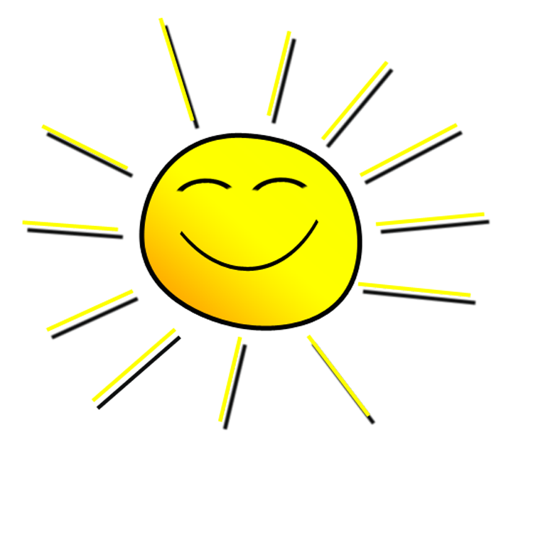 smiling sunshine clipart rh clipart info  smiling sun clipart black and white