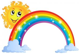 Sunshine and rainbow clipart