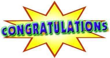 Congratulations job free clipart
